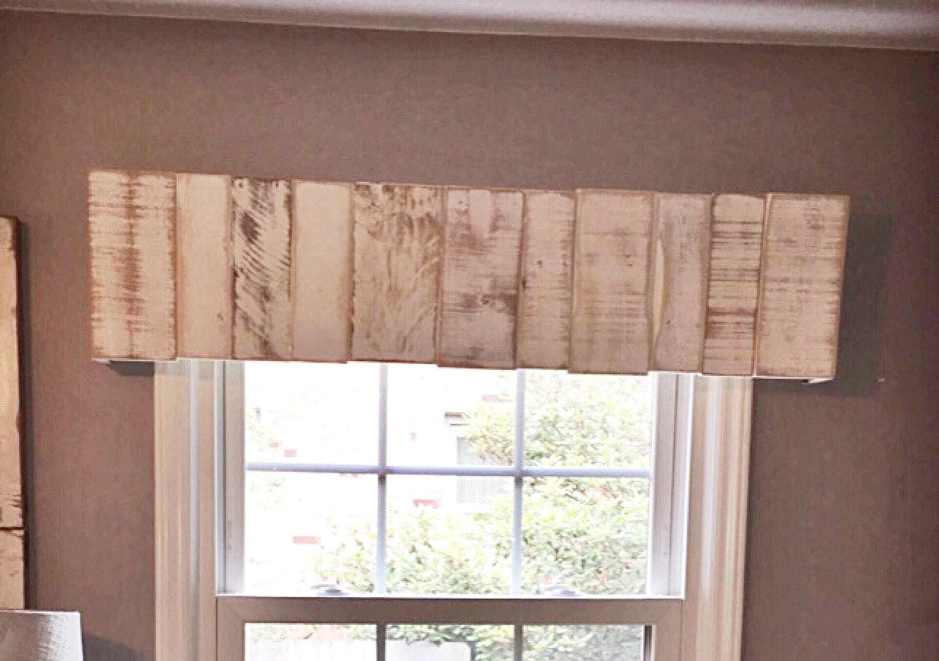 Rustic Wooden Valance Rustic Wooden Cornice Wooden Window