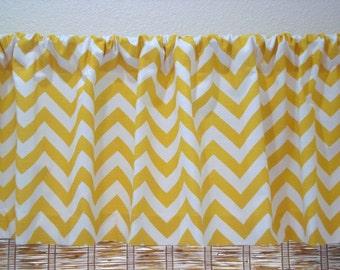 Chevron Valance ZigZag Curtain Kitchen Curtain Childs Valance 52x12 52x14  52x16  52x18