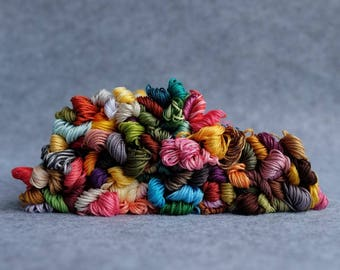 100pcs random different colors 100% Cotton Embroidery Thread 8m per Floss Skein for Cross Stitch