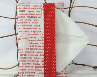 Tissue Holder for Purse, Travel: Red Needlecrafts Theme
