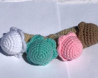 Set of 4 Crochet Ice Cream Cones