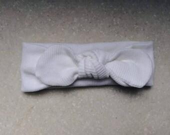 White ribbed headband