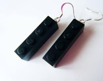♥ ♥ ♥ Black Lego earrings