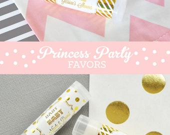 Princess Baby Shower Favor Lip Balms - Princess Party Favors - Princess Birthday Favors Ideas  (EB3031FB) set of 16|