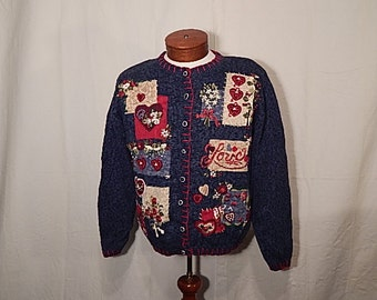 UGLY CHRISTMAS SWEATEr Love is All You Need Sweater Large L