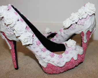 Wedding cake inspired shoes