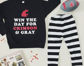 "WSU COUGARS ""Win the Day"" crewneck sweatshirt"