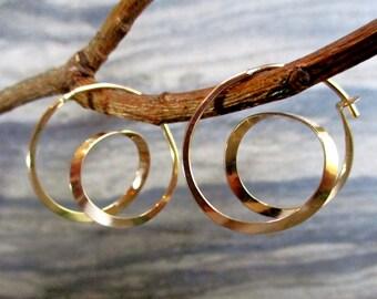 modern minimalist simple spirals hoops