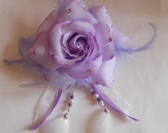 PIN back train wedding flower