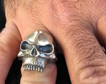 Sterling silver alien head skull made in the USA