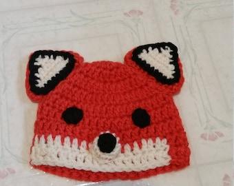 Crocheted Fox Hat