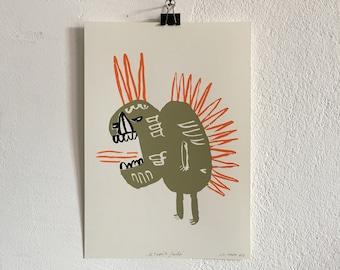 "Screen printing ""El Taquito Grande"""