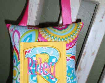 Flower Palooza Personalized Tooth Fairy Pillow