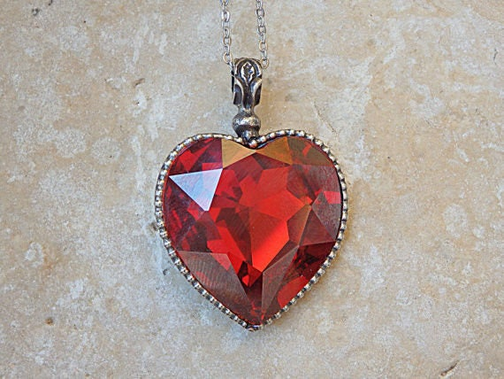 necklace products heart stark fox necklaces pendant shaped horse chain crystal
