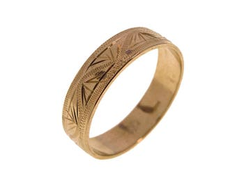 Gold Wedding Band - Gold Wedding Ring - Wedding Ring - Wedding Band - 14k Gold Ring - Free Shipping - Handmade Ring - Promise Gold Ring