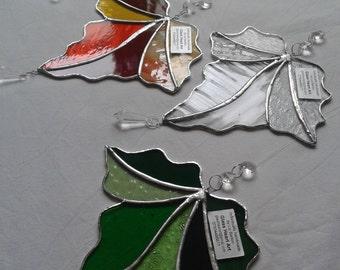 Glass Maple Leaf Sun-catcher