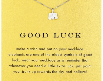 Good Luck Inspirational Pendant in White Gold