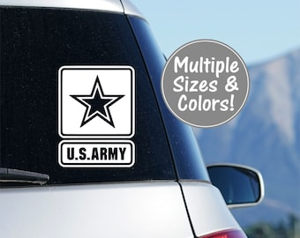 Army Decal for Car Window, U.S. Army Decal, US Army Yeti Decal Tumbler Decal for Car, Army Laptop Decal, Military Decal Army Car Sticker