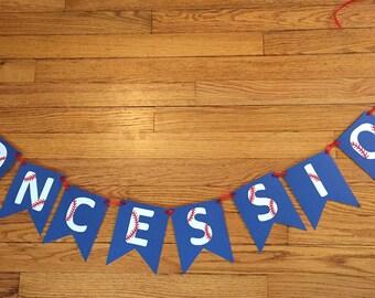 Concessions baseball banner