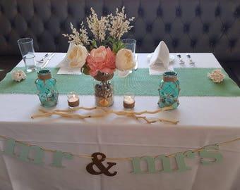 Mint Green Burlap Table Runner Mint Wedding Decor Seafoam Table Runners  Mint Table Decorations Rustic Style Wedding Decor Coastal Home Decor