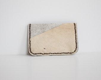 Cardholder, Font Pocket Wallet, Cowhide Wallet, White Leather Wallet,Minimalist wallet