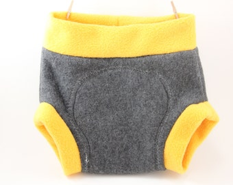 Solid Color Fleece Diaper Cover Shortie Soaker - Great Baby Shower Gift or Newborn Photo Prop