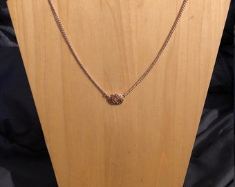 Rose Gold filigree necklace