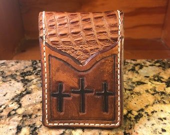 Three cross front pocket billfold with moneyclip