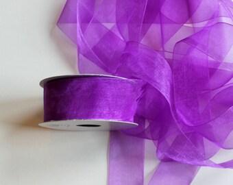 "1 1/2"" Organza Ribbon - Purple Haze - Full Spool 25 Yards"