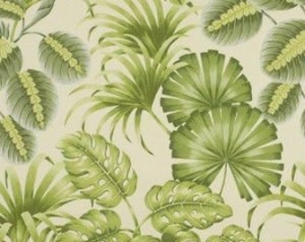 Two 20 x 20 Custom Designer Decorative Pillow Covers for Indoor/Outdoor - Large Leaves - Green