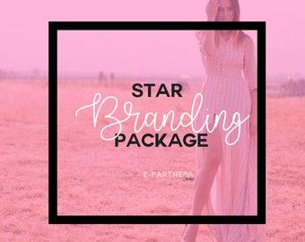 Youtube & Blog Star Branding Package | Youtube Banner | Blog Header | Youtube Branding