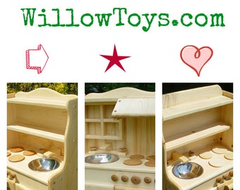 Order today for the holidays Play Kitchen, Ivy's, 100% real wood, wooden toy stove,wood play kitchen, child's wooden play kitchen,