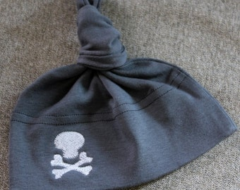 Personalized Baby Skull Hat - American Apparel - It's custom -YOU CHOOSE the COLORS