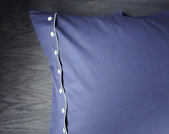 Organic cotton travel pillowcase, grey pillow case, holiday gift idea MADE TO ORDER