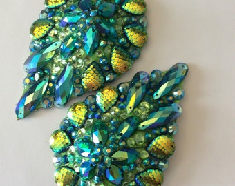 Mermaid tear drop pasties