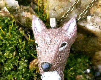 The Little Doe - Deer Necklace, Deer Jewelry, Polymer Clay Necklace, OOAK, Gift for her