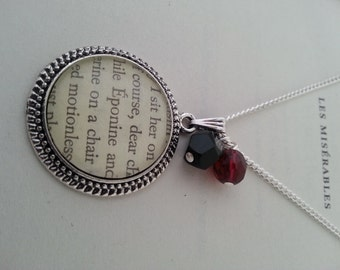 Les Miserables Eponine Book Page Necklace