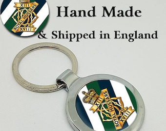 Made to Order 13th-18th Royal Hussars Key Ring - A Great Gift