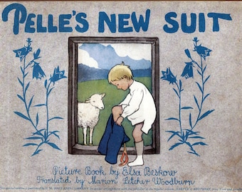 PELLE'S NEW SUIT Elsa Beskow, 1940s reprint, classic picture book, Scandinavian book