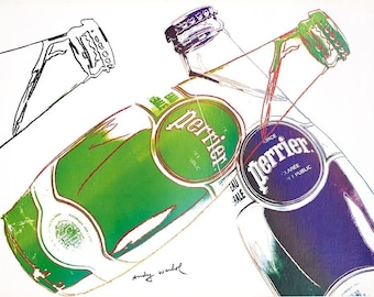 Perrier  1980 later printing vintage by Andy Warhol mounted  on linen excellent