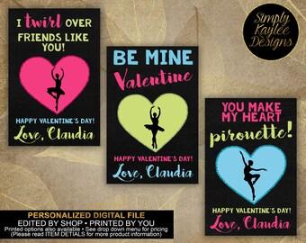 Ballet Dancer Valentine's Day Card