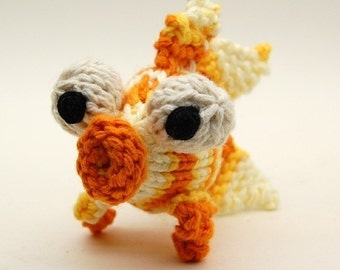 Glubby Goldfish Knitting Amigurumi Plush Toy PDF Pattern Tutorial Digital Download