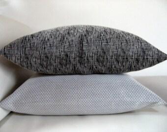 DECORATIVE black PILLOW Cover, 20x20 Throw Pillow, Black Pillow, Modern pillow, Housewares, Sofa pillow, Accent pillow, Euro pillowcase