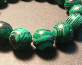 Malachite Gemstone Bracelet - Beaded Jewelry - Festival Fashion- Coachella Jewelry