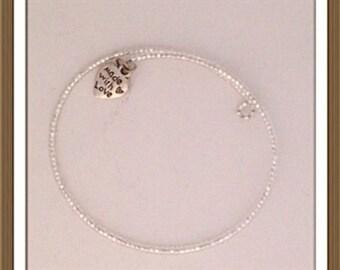 Bracelet by MWL  0.11 seed beaded handmade. 0223