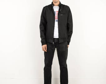 AMAZING Vintage Black Members Only / The Original Iconic Racer Jacket / M / 90s cool  hipster biker outerwear street style
