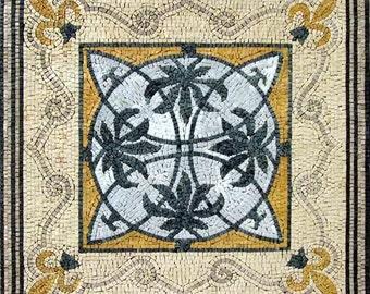 Roman Mosaic Square - Albia Gold