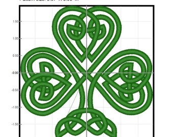 Fancy Shamrock Machine Embroidery Design Digital File Download St. Patrick's Day Design