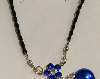 Cobalt Pearl Necklace
