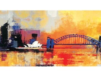 Colin Ruffell (Sydney Coathanger Bridge) Art Print 50 x 100cm PPR41165